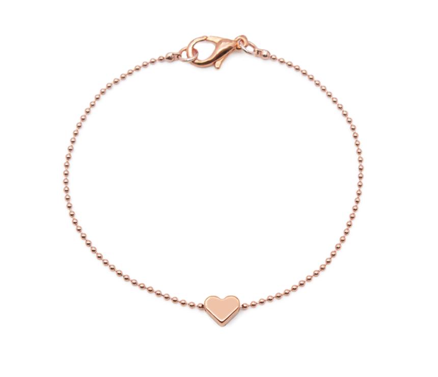 Armband Herz Kugelkette Roségold