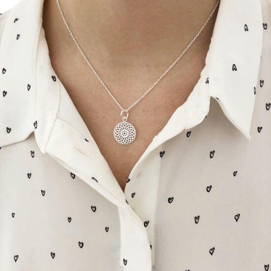 Halskette Mandala 925 Silber