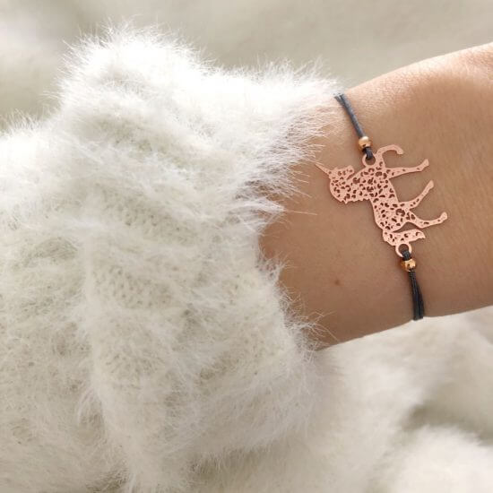 Armband Einhorn Roségold