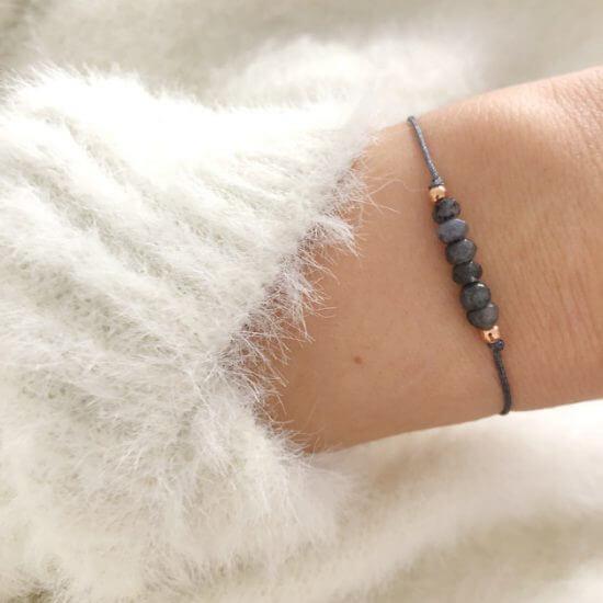 Armband Labradorit Perlen