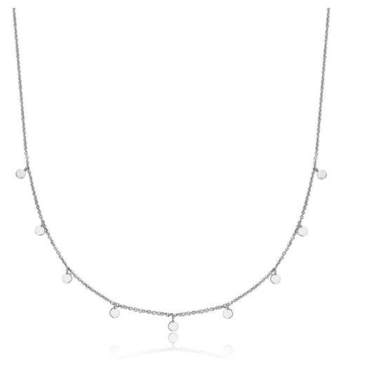 Halskette kleine Münzen 925 Silber