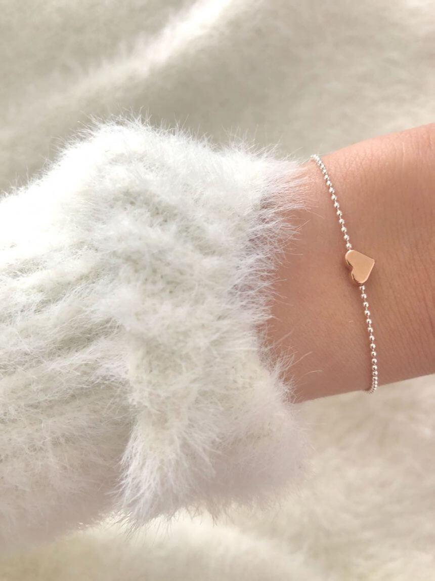 Armband Herz Bicolor