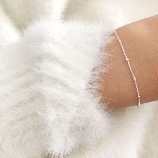 Armband Kleine Kugeln 925 Silber