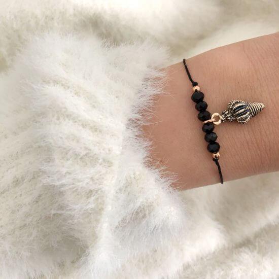 Armband Muschel Glasperlen