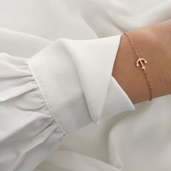 Armband Anker Edelstahl Roségold