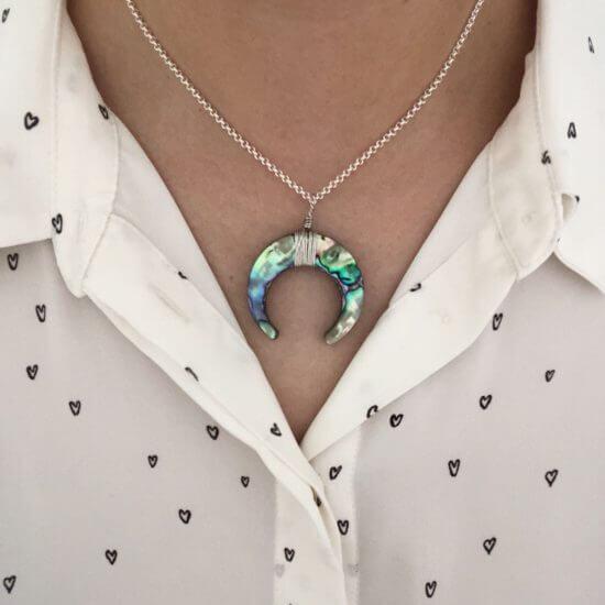 Halskette Abalone Silber
