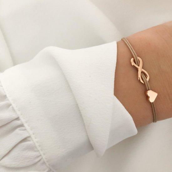 Armband Infinity Herz Roségold