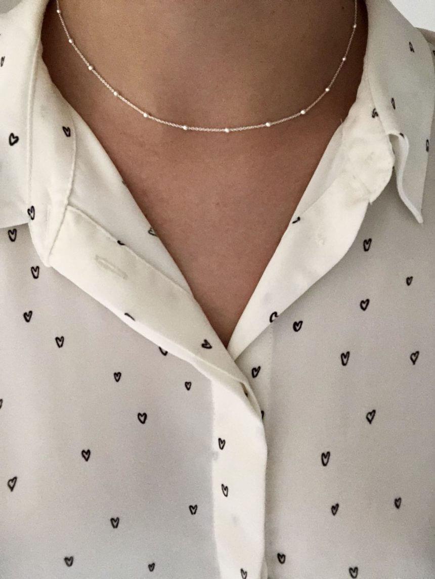 Halskette little Dots 925 Silber