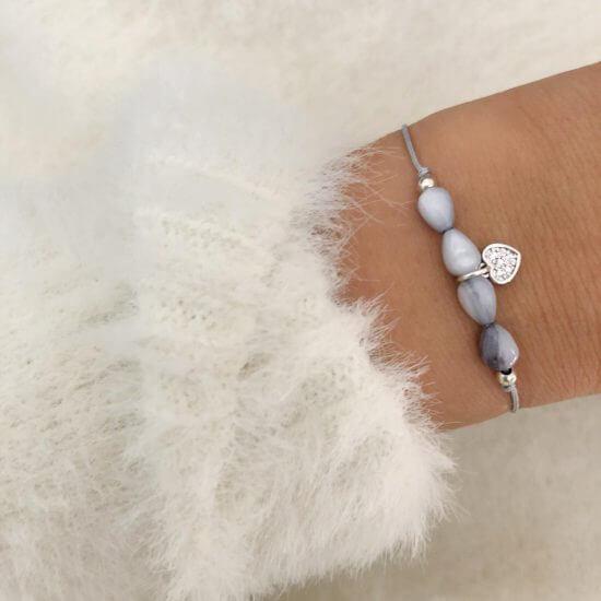 Armband Little Heart Silber