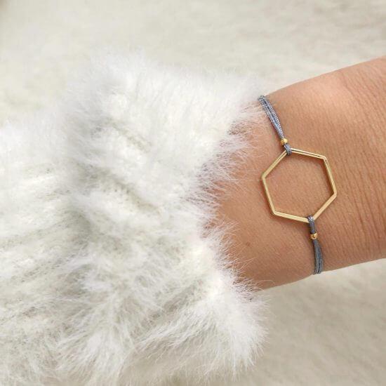 Armband Hexagon Gold