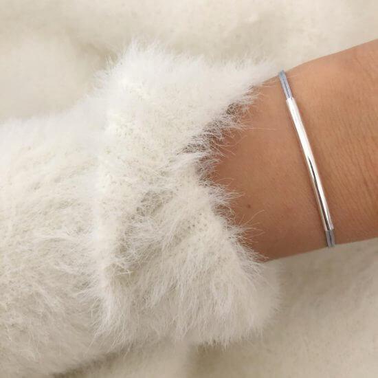 Armband Tube Silber
