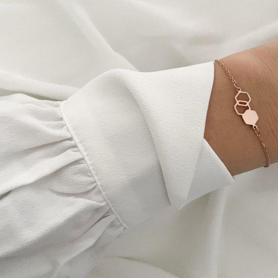 Geometric Armband Roségold
