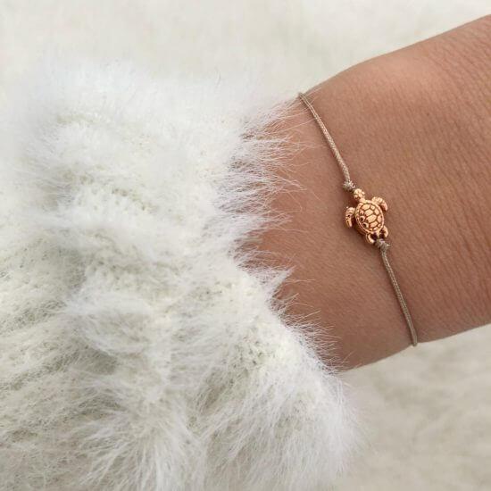 Armband Schildkröte Roségold