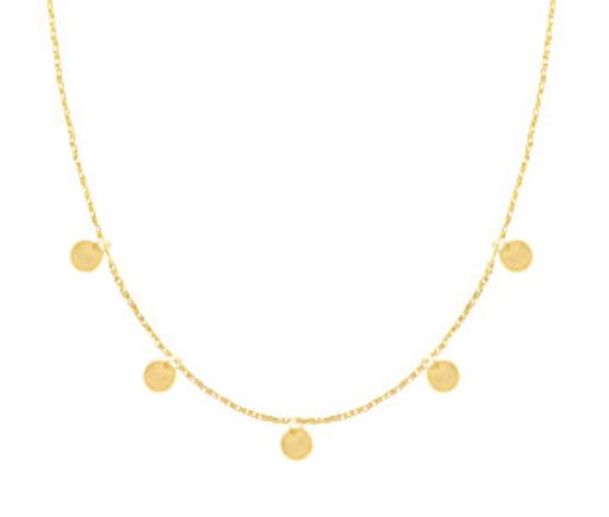 Halskette Münzen Edelstahl Gold