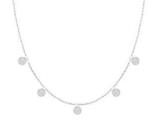 Halskette Münzen Edelstahl Silber