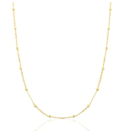 Halskette Dots Edelstahl Gold