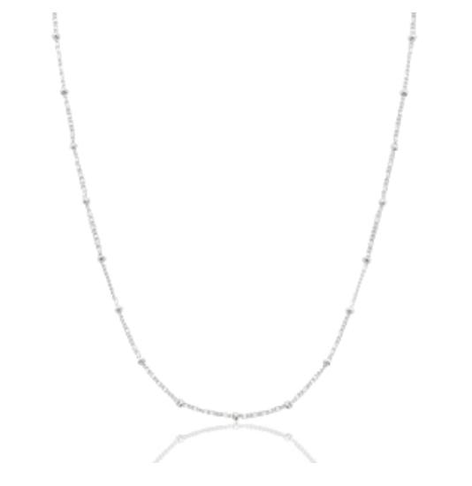 Halskette Dots Edelstahl Silber
