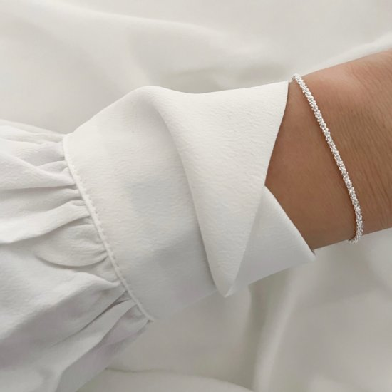Armband Glitzer 925 Silber