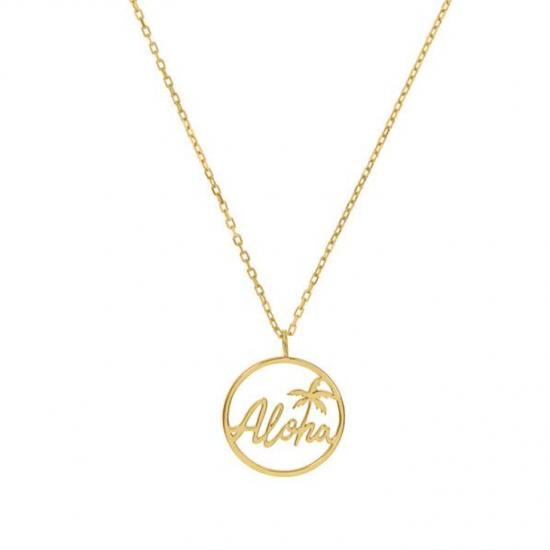 Halskette Aloha Edelstahl Gold