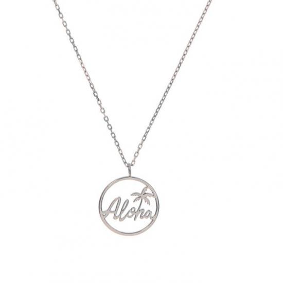 Halskette Aloha Edelstahl Silber