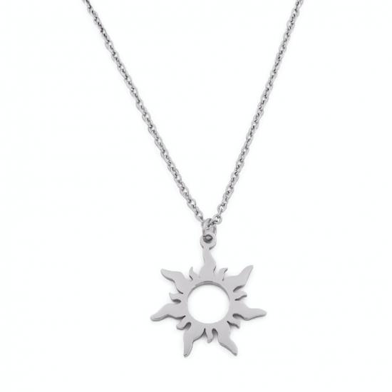 Halskette Sun Edelstahl Silber