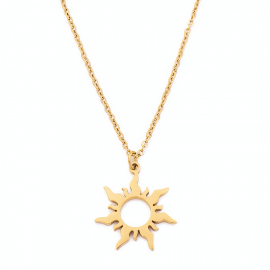 Halskette Sun Edelstahl Gold