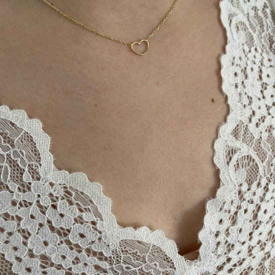 Halskette Little Heart Gold 925 Silber