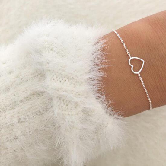 Hearty Armband 925 Silber