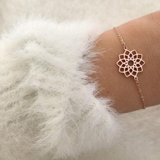 Mandala Armband Roségold