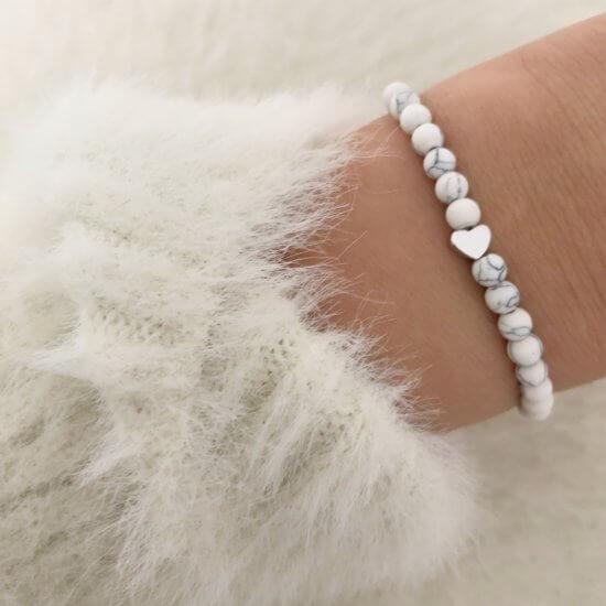 Armband White Love