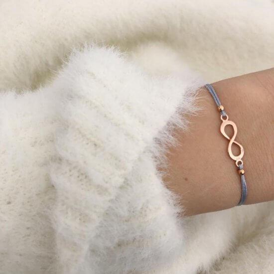 Armband Infinity 925 Silber Roségold