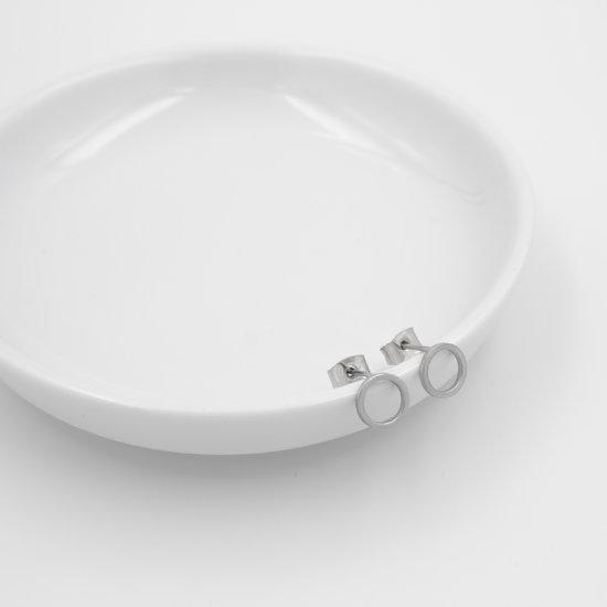 Ohrstecker Kreis Silber