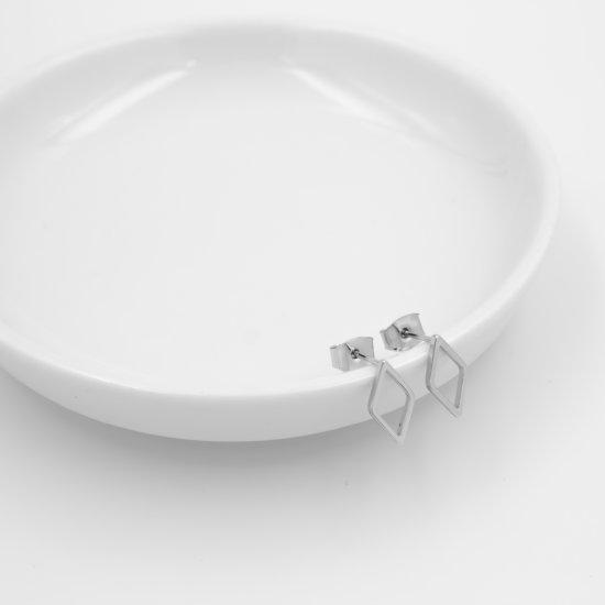 Ohrstecker Raute Silber
