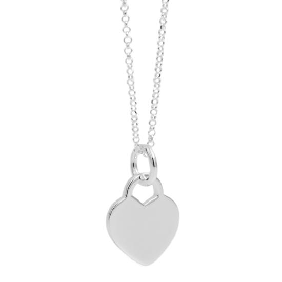 Gravur Halskette Herz 925 Silber
