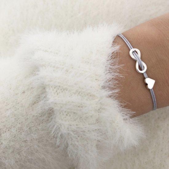 Armband Infinity Herz Silber