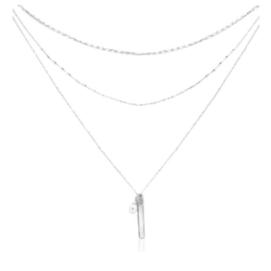 Halskette Pearl Layer Edelstahl