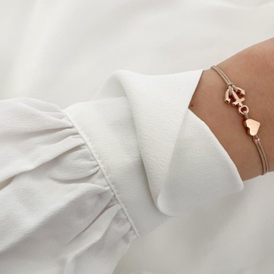 Armband Sweet Anchor Roségold