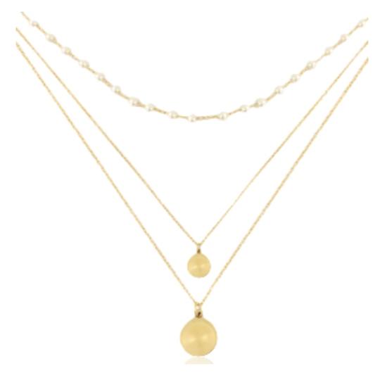 Halskette Layer Coin Edelstahl Gold