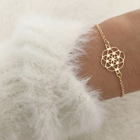 Bloom Armband 925 Silber Gold