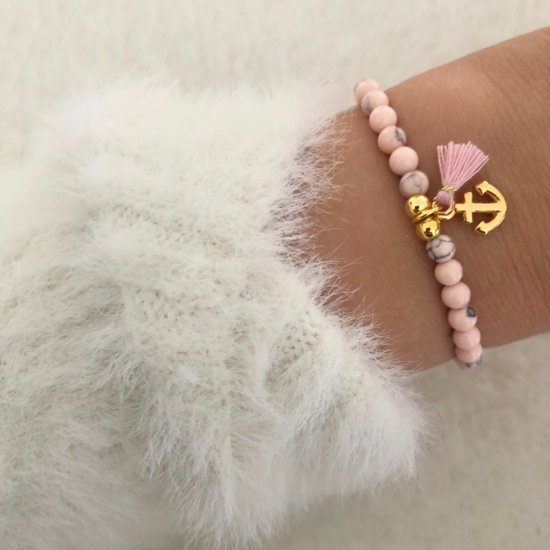Armband Pink Anchor Gold