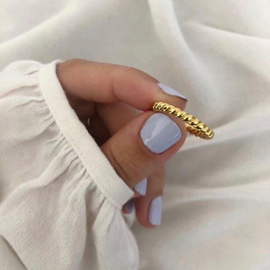 Ring Bullet 925 Silber Gold
