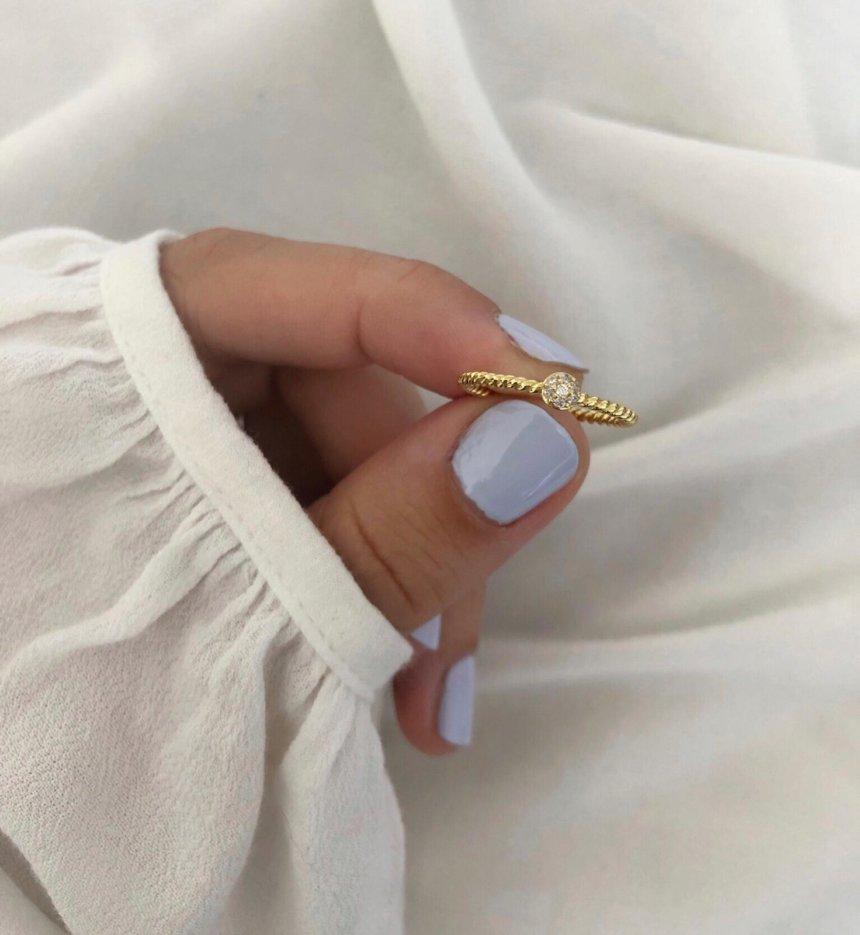 Ring Sparkling 925 Silber vergoldet