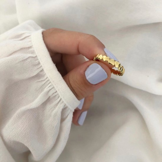 Ring Endless Hearts 925 Silber Gold