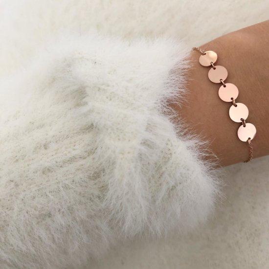 Armband Münzen Roségold