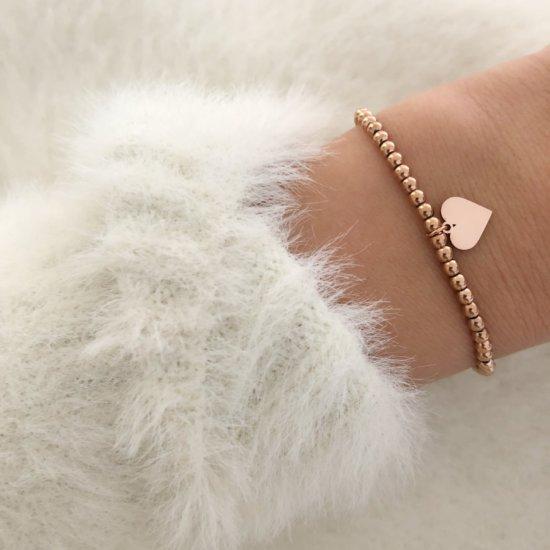 Armband Herz Edelstahl Roségold