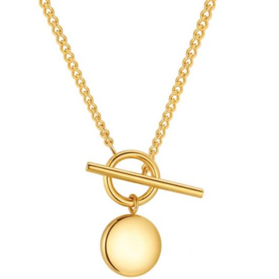 Halskette Simple Gold Edelstahl