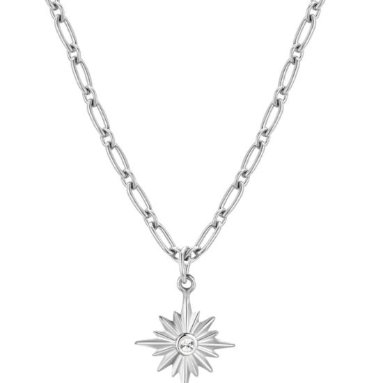 Halskette Pole Star Silber Edelstahl