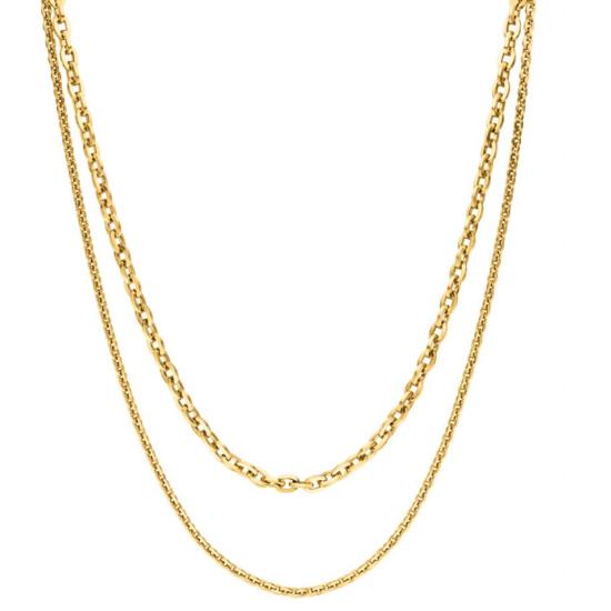 Halskette Special Gold Edelstahl