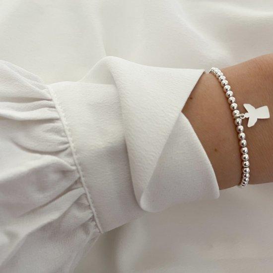 Armband Schutzengel Edelstahl Silber