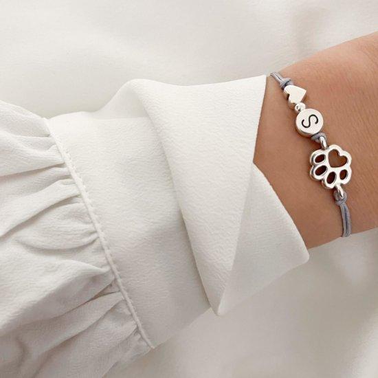 Armband Pfote Silber